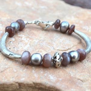 Chocolate Labradorite Sterling Silver Bracelet